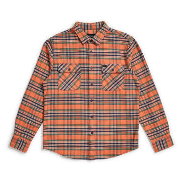 BRIXTON BOWERY L/S FLANNEL - SALMON/NAVY - Seo Optimizer Test