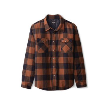 BRIXTON BOWERY LINED L/S FLANNEL - NAVY/COPPER
