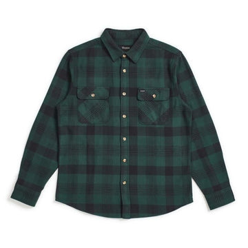 BRIXTON BOWERY L/S FLANNEL - BLACK/GREEN