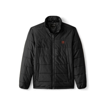 BRIXTON CASS PUFFER JACKET - BLACK - The Drive Skateshop