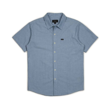 CHARTER OXFORD S/S WVN - LIGHT BLUE CHAMBRAY - The Drive Skateshop