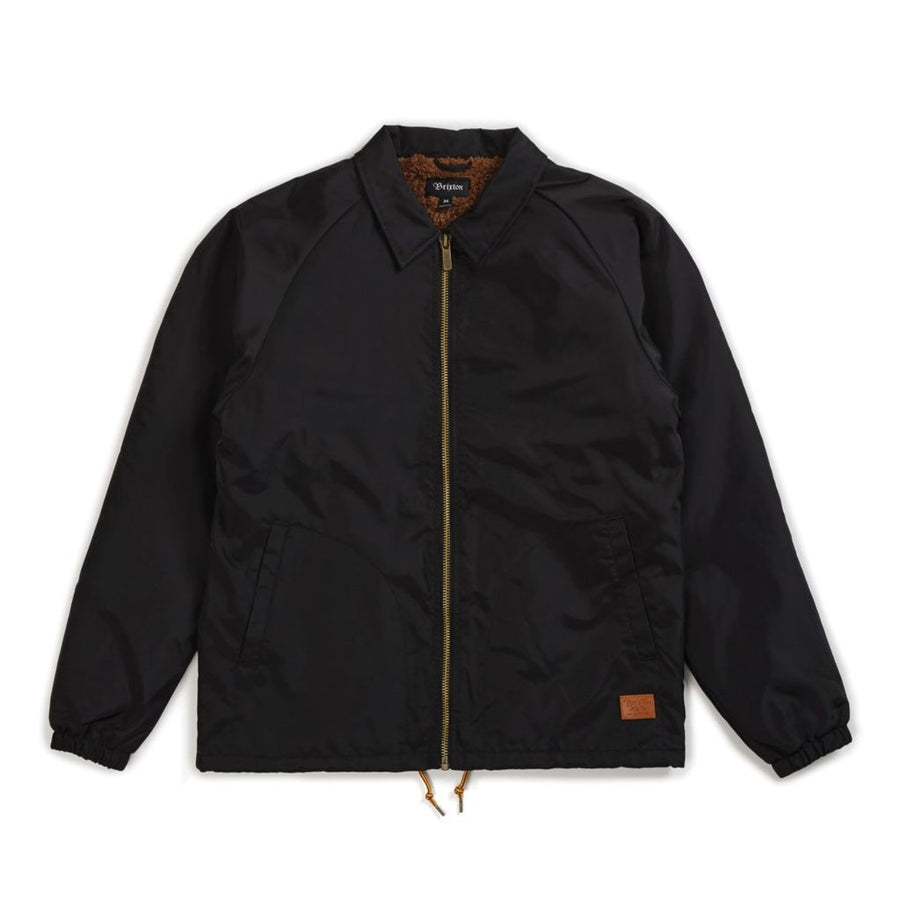 CLAXTON COLLAR SHERPA JACKET BLACK - The Drive Skateshop