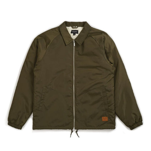 CLAXTON COLLAR SHERPA JACKET OLIVE - The Drive