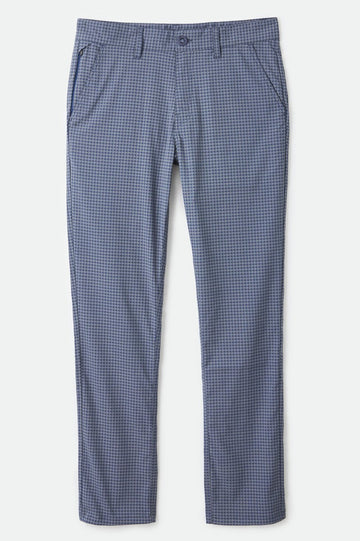 BRIXTON CHOICE TAPER PANT JOE BLUE/GREY HOUNDSTOOTH