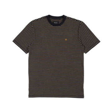 BRIXTON HILT S/S KNIT - BLACK/HONEY/HEATHER GREY - Seo Optimizer Test