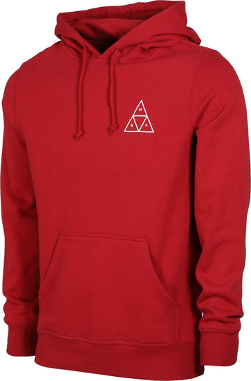 HUF ESSENTIALS TT PO HOODIE RIO RED - The Drive Skateshop