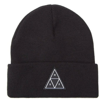 HUF TT CUFF BEANIE BLACK - The Drive Skateshop
