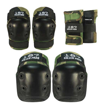 187 PAD SET CAMO - JUNIOR (KNEES,ELBOWS & WRISTS) - The Drive Skateshop