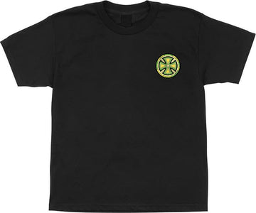 INDEPENDENT T-SHIRT STAINED GLASS BLACK - The Drive Skateshop