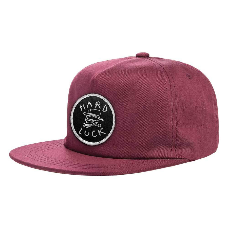 HARD LUCK SNAPBACK OG UNSTRUCTURED BURGUNDY - The Drive Skateshop
