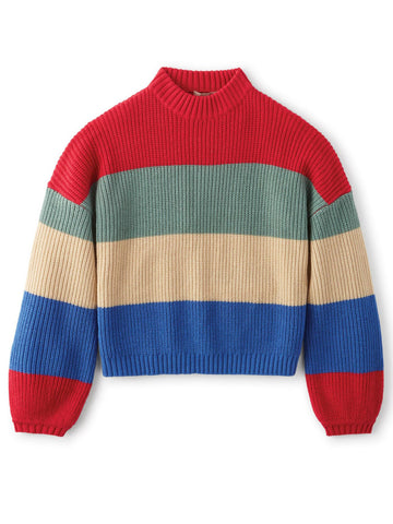 BRIXTON MADERO SWEATER - ROSE RED - 100% ACRYLIC - The Drive Skateshop