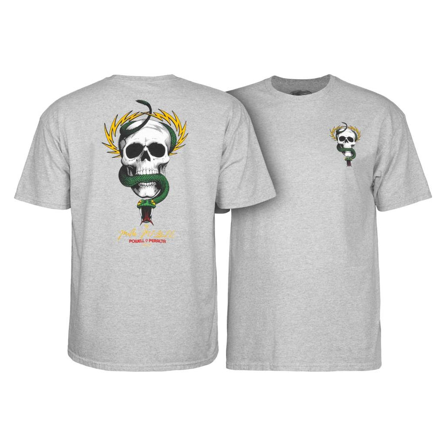 POWELL PERALTA S/S T-SHIRT - MIKE MCGILL SKULL AND SWORD ATHLETIC HEATHER - The Drive Skateshop