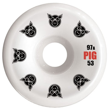 PIG WHEELS - C-LINE CONICAL WHITE 97A (53MM)