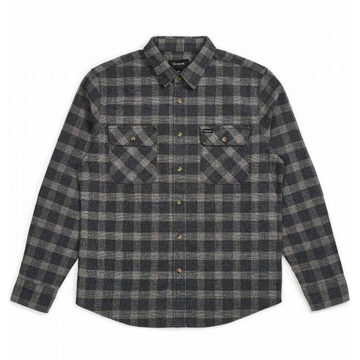 BOWERY L/S FLANNEL - BLACK/HEATHER GREY - The Drive