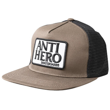 ANTIHERO RESERVE PATCH SNAPBACK BROWN/BLACK - The Drive Skateshop
