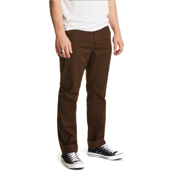BRIXTON RESERVE CHINO PANT - BROWN - The Drive Skateshop