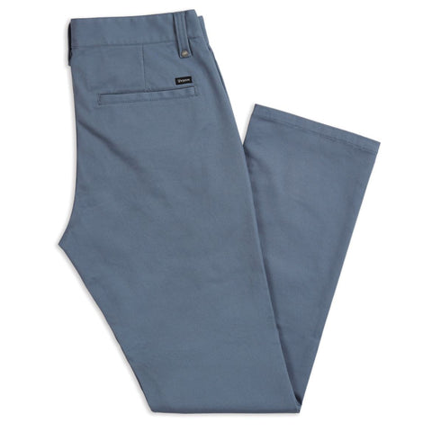 BRIXTON RESERVE CHINO PANT GREY/BLUE - The Drive