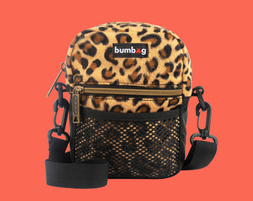 BUMBAG FURRY FRIENDS COMPACT SHOULDER BAG - CHEETAH