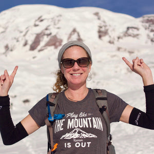 Play Like the Mountain is Out-Rainier- Women's T-Shirt - Wild & Roaming