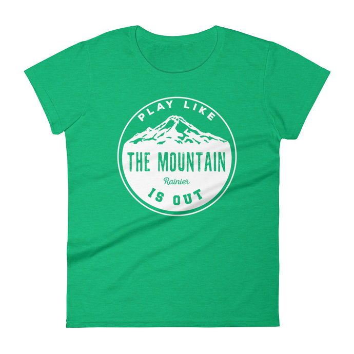 Retro Play Like the Mountain is Out- Rainier- T-Shirt - Wild & Roaming