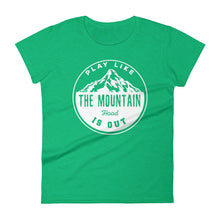 Retro Play Like the Mountain is Out- Hood- T-Shirt - Wild & Roaming