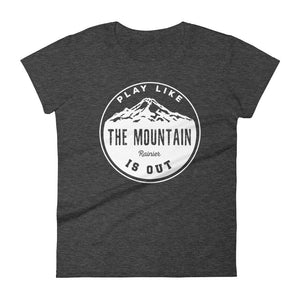 Retro Play Like the Mountain is Out- Rainier- T-Shirt
