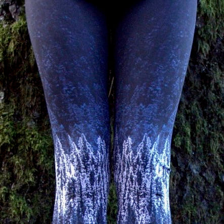 Snowy Forest Yoga Capri - Wild & Roaming