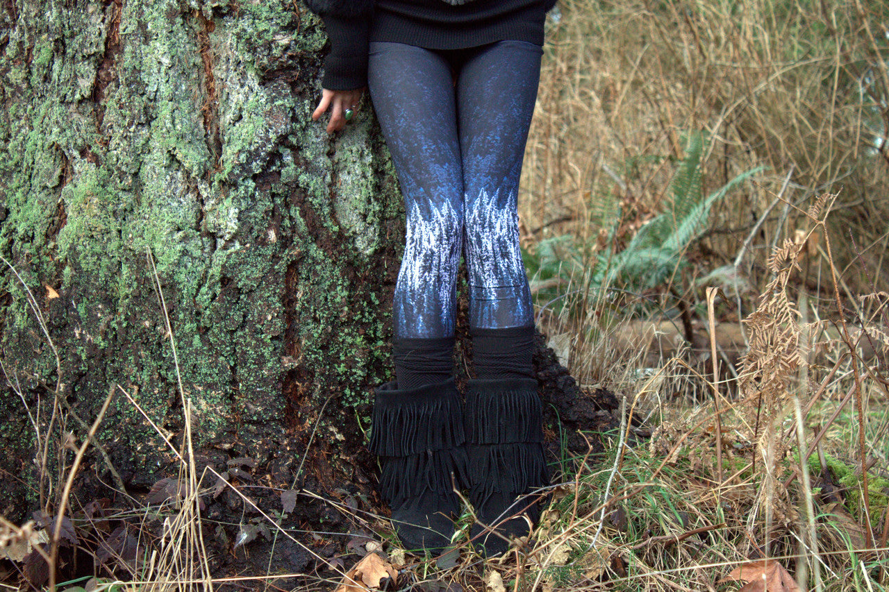 snowy forest leggings by wild & roaming - wildandroaming nature-inspired leggings wild leggings #leggings