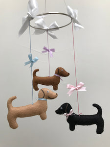 Mini Dachshund Mobile - Baby Mobile