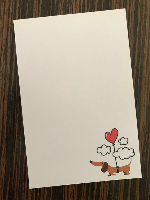 Dachshund Heart Note Pads