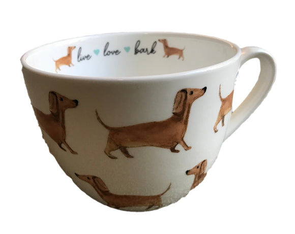 Live Love Bark Dachshund Coffee Mug