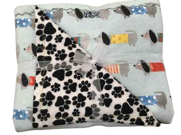 Dox LineUp Double Layer Reversible Doggy Dream Blanket