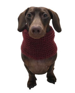 Cashmere Blend Hand Knit Dog Snood Infinity Scarf