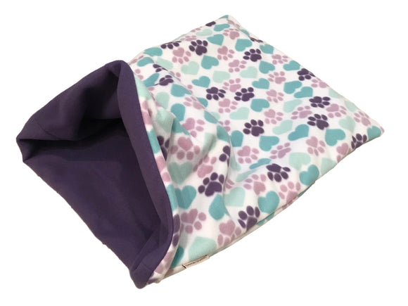 Purple & Mint Hearts & Paws Weenie Warmer *Special Edition*