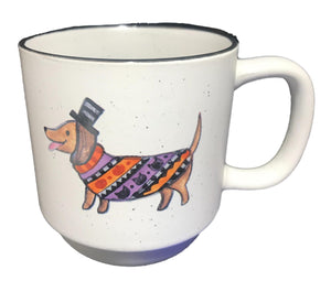 Dachshund Top Hat Halloween Coffee Mug