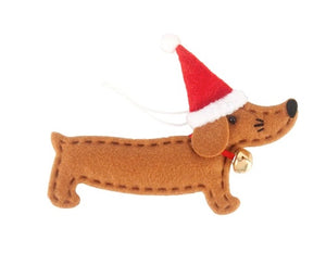 Jingle Bell Dachshund Tree Ornament