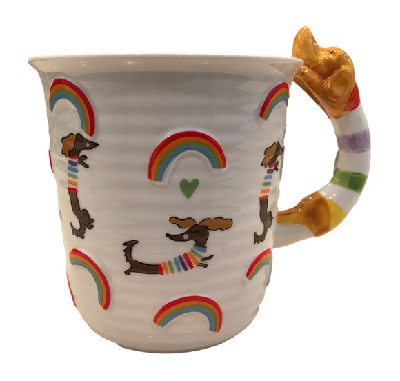 Open Mind Open Heart Dachshund Coffee Mug