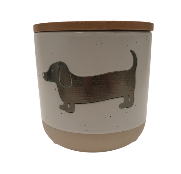 Dachshund Stoneware Treat Jar