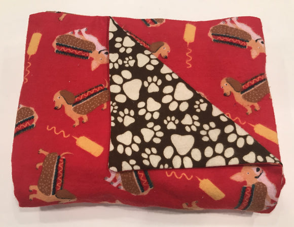 Dachshund & Corgi Double Layer Reversible Doggy Dream Blanket