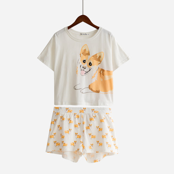 Women's Corgi Short 2 Piece PJ Set