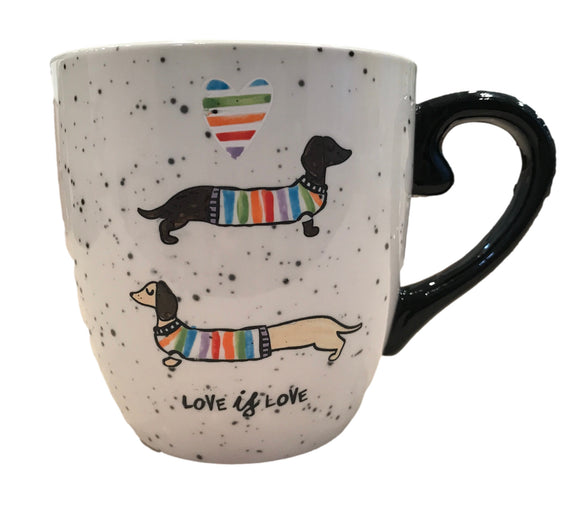 Love is Love Stoneware Dachshund Coffee Mug