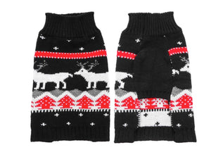 Black Reindeer Holiday Sweater