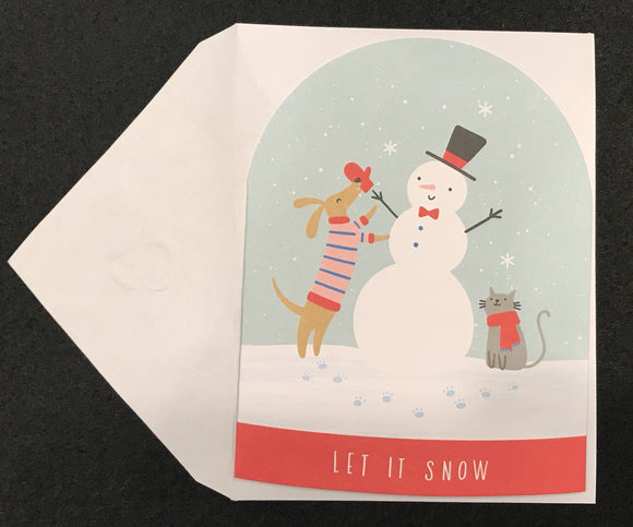 Let It Snow Snow Globe Card