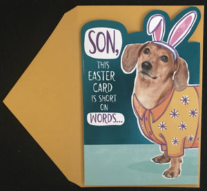 Short on Words Easter Card