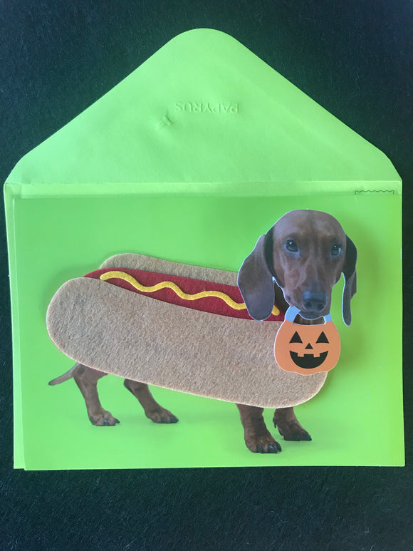 Halloweenie Hot Dog