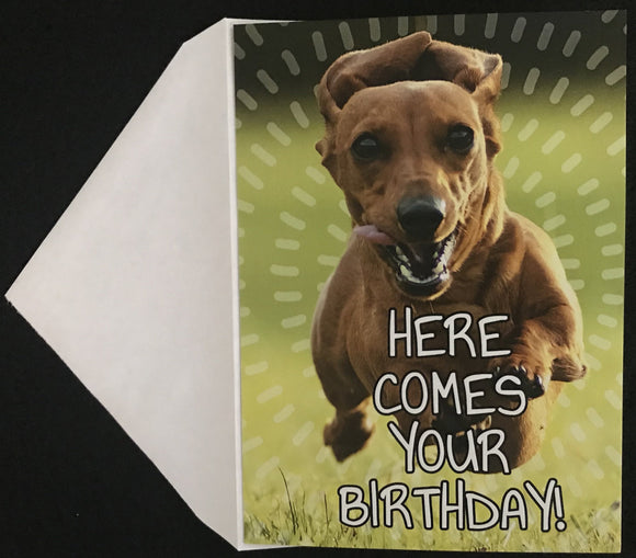 Here Comes Your Birthday Birthday Card