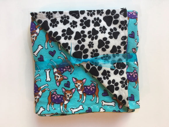 Pretty Chihuahua Double Layer Reversible Doggy Dream Blanket