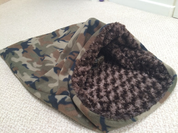 Dach Dynasty Weenie Warmer - Camouflage Fleece/ Brown Minky