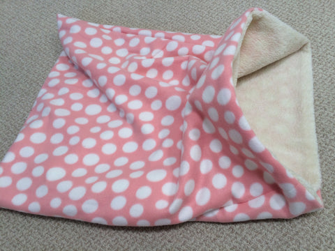 Pink with White Polkadots/Sherpa Lining Weenie Warmer