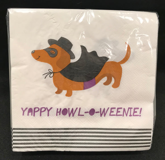 Yappy Howl-o-Weenie! Party Napkins